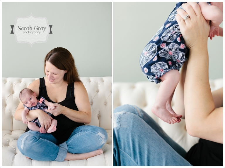 Sarah Gray Photography | Tallahassee, FL, Casual Newborn Family Studio Photographer