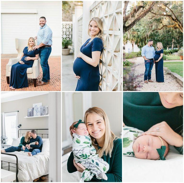 Maternity and newborn motherhood membership collage