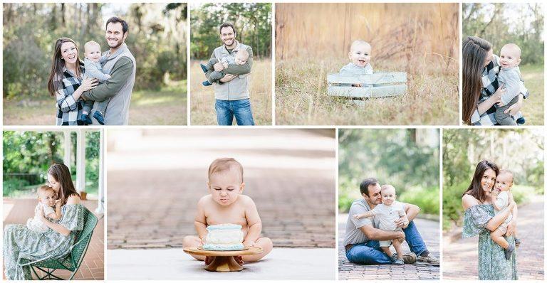 6 month milestone and first birthday motherhood membership collage