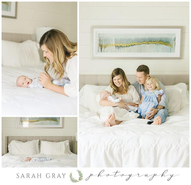 Blue and white Tallahassee newborn photography