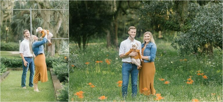 6 month baby plan session at Goodwood Museum and Gardens in Tallahassee Florida with Sarah Gray Photography