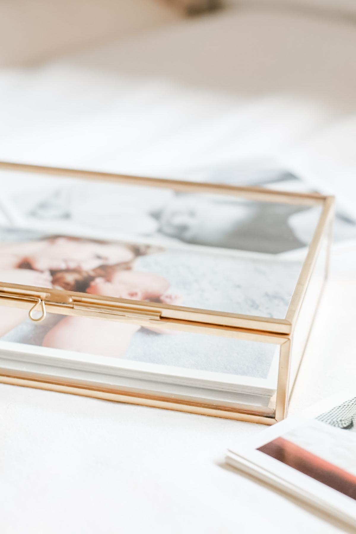 Glass box of photos 3